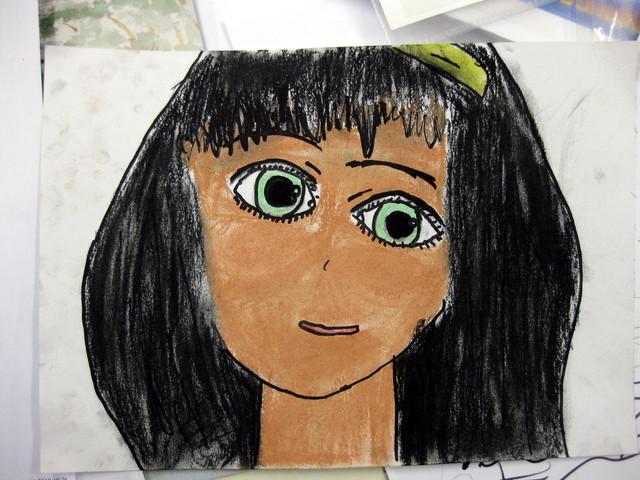 Manga mit grünen Augen