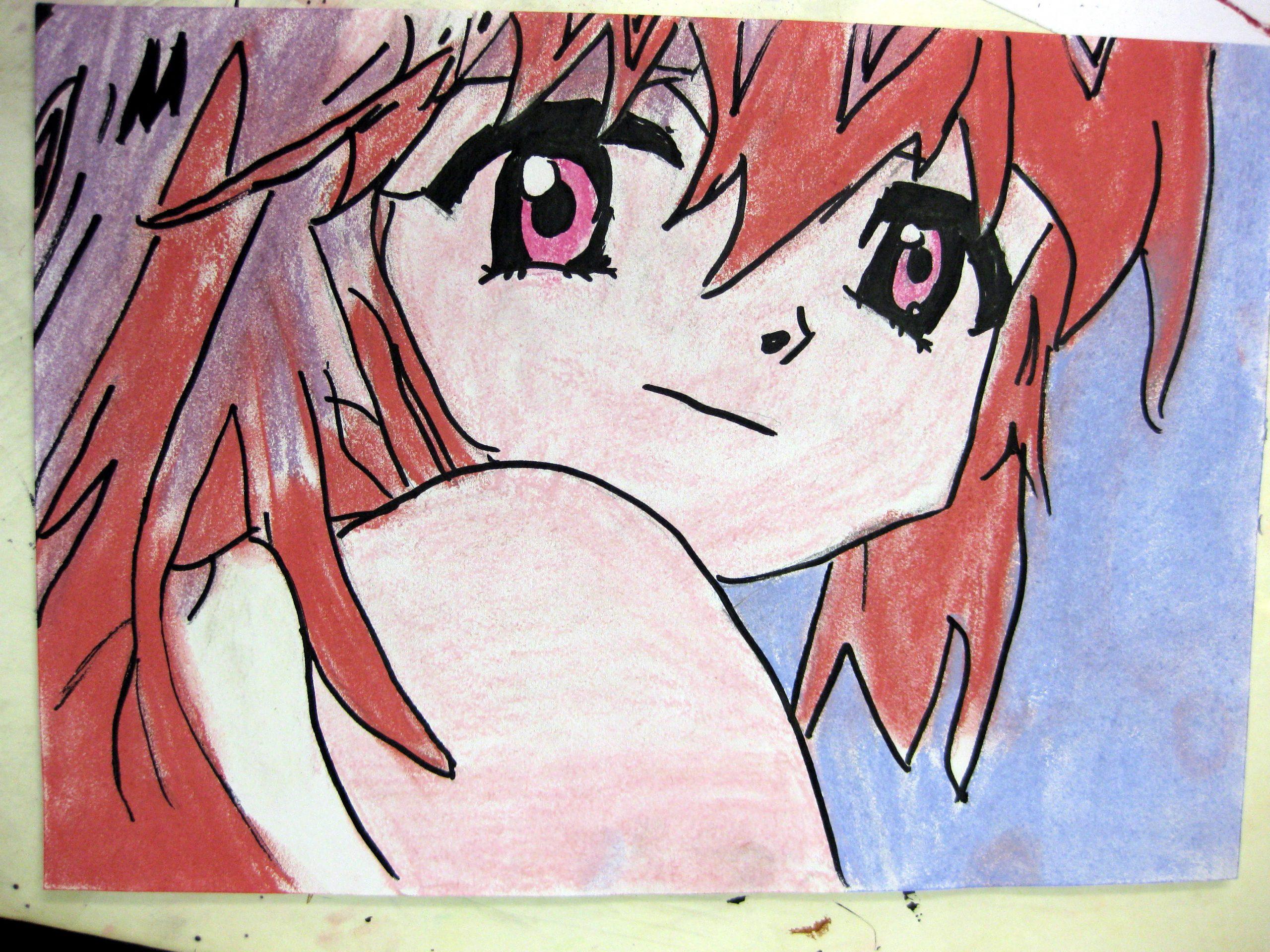 Manga mit rotem Haar