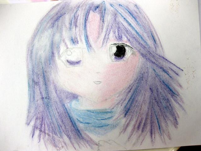 Manga zwinkert